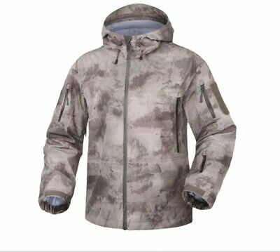 Texar Outdoor Waterproof Mens Jacket Tactical Hardshell Coat Military Black