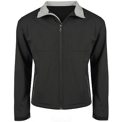 New Mens Soft Shell Jacket Waterproof Windproof Fleece Lined Outdoor Zip Up Coat