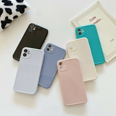 Liquid Silicone Solid Color Clear Case Cover For iPhone 11 Pro Max XR XS 8 Plus