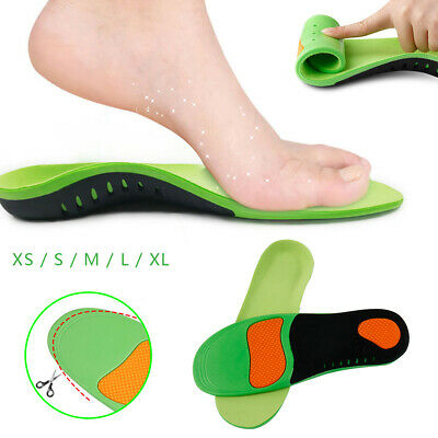 Orthotic Insoles Arch Support Flat Foot Feet High Plantar Fasciitis Pad Insert