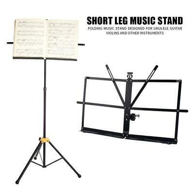 Adjustable Guitar Music Sheet Conductor Stand Stage Holder Mount Tripod Folding
