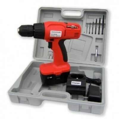 18V 18 Volt Cordless Power Powered Operated Battery Drill Screwdriver Tool Kit