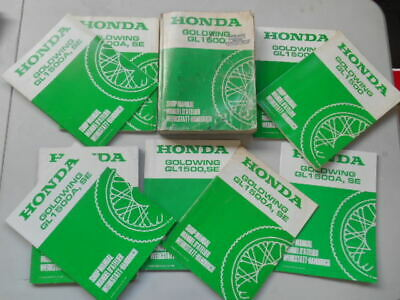 Manuel D'atelier + 9 Supplements Pour Honda Gl1500 Gl 1500 Goldwing