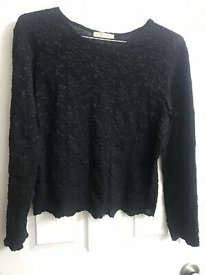 Size Large Blacke Lace Top E. A. G. Collection