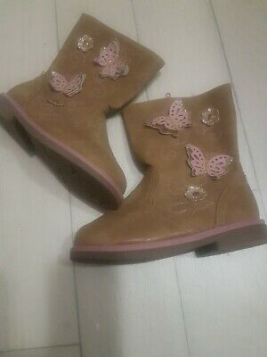Girls New Boots Tan Size 11 Young DIvision
