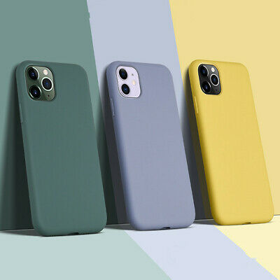 For iPhone 11 Pro Max XS XR 8 7 Plus Soft Liquid Silicone Shockproof Case Cover