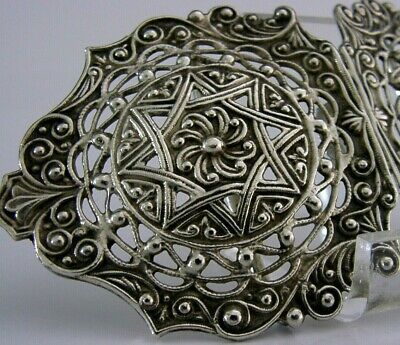 Quality Cast Arts & Crafts Style Solid Silver Belt Nurses Buckle 1985 English