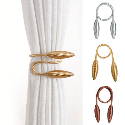 Curtain Tie Backs Holdbacks Metallic Curtain Clips Curtain Hooks for Home Office