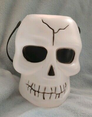 Skull Candy Pail Halloween Candy Bucket with handle. 👻🎃 Decoration Head