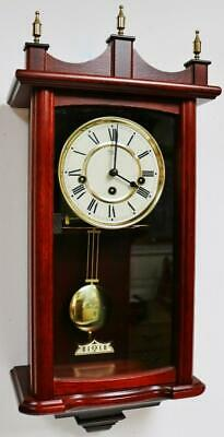 Vintage Rapport Franz Hermle 8 Day Mahogany Musical Westminster Chime Wall Clock