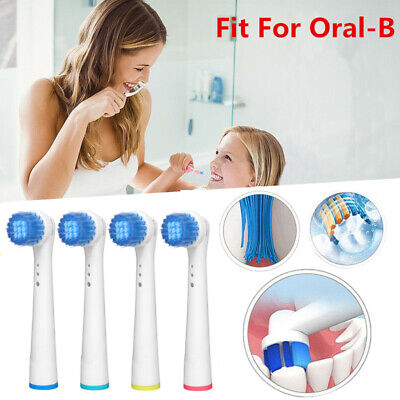 Soft Bristles Replacement Electric Toothbrush Heads White Clean Fit For Oral-B