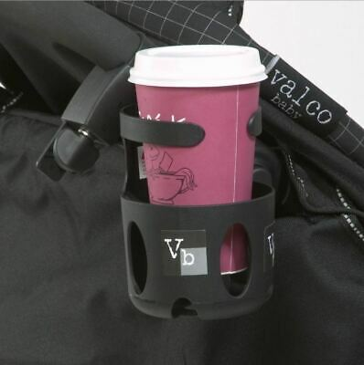 Valco Baby Cup Holder Coffee Stand Stroller Drink Bottle Part Black Attachment