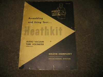 Heathkit Audio Vacuum Tube Voltmeter VTVM Model AV-3 Assembly and Use Manual