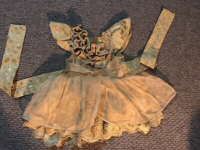 Nigerian African Yoruba Traditional Outfit Gold Party Birthday Dress 9-12 Month
