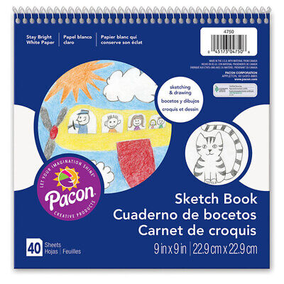 Pacon Corporation White Drawing Paper Spiral 9X9 4750