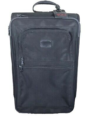 "TUMI 24"" Nylon Black Wheeled Rolling Stand Up Travel Bag Suitcase Luggage USA"