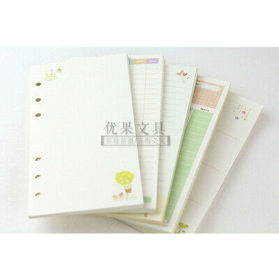A5/A6 Month Blank Ruled Colourful Planner Diary Insert Refill Schedule Organiser