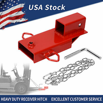 "2"" Trailer Forklift Towing Adapter Pallet Fork Insert Receiver Hitch Attachment"