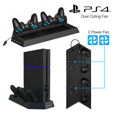 Vertical Stand For PS4 Cooling Station 2 Controller Charging Dock PlayStation 4