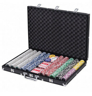 Poker Chip Set 1000 Poker Chips Set with Aluminum Case Easy Beautiful