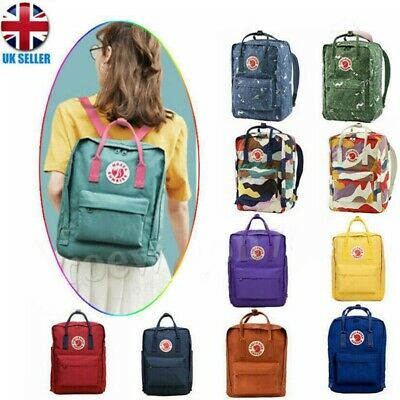 Fjallraven Kanken Backpack School Waterproof Handbag Sports Travel Bag 7/16/20L