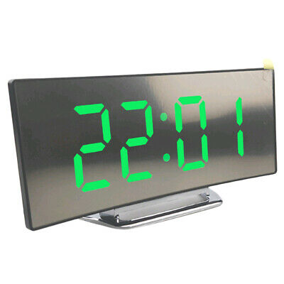 LED Mirror Digital Alarm Clock Electronic  Night Display Table Clock-03