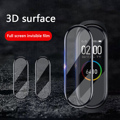 3D Full Cover Clear Tempered Glass Screen Protector film For Xiaomi Mi Band 4