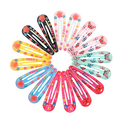 18Pcs Cute Candy Color Hairpins Snap Hair Clip Kids Girl Barrettes BB Clips sm