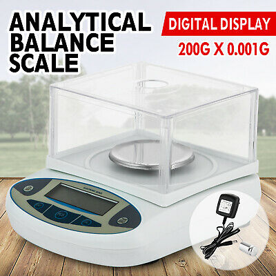 PRECISION SCALE - 200 x 0.001g LABORATORY DIGITAL ANALYTICAL WEIGHING BALANCE
