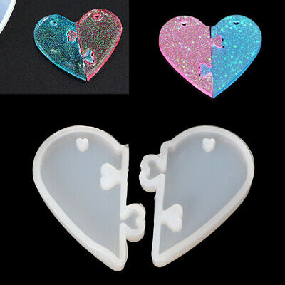 Lovers DIY Love Locks  Silicone Mold  Epoxy Resin Mould  Jewelry Tools Pendant