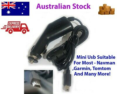 Premium Universal GPS Car Charger (Mini USB Plug) for Garmin Tomtom Navman etc
