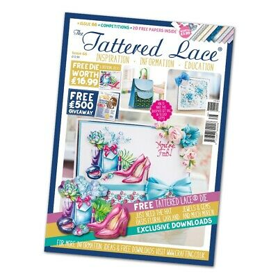 Tattered Lace Issue 66 Magazine with FREE Shoes & Bag Die (1 die) - CLEARANCE