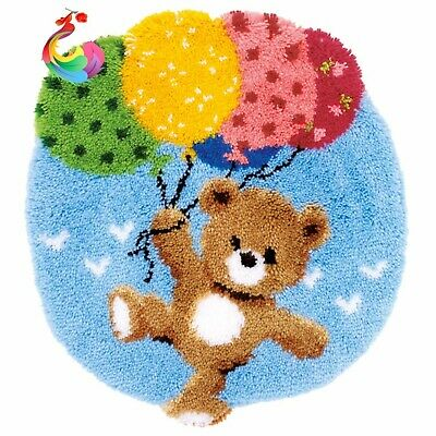 BALLOON BEAR LATCH HOOK RUG KIT from UK Seller, BRAND NEW