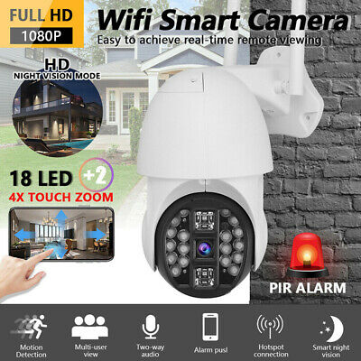 Waterproof Outdoor WiFi PTZ 1080P HD Home Security Wireless IP CCTV IR Camera