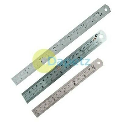 "6'' / 8"" / 12"" Scale Ruler Small Large Measure Rule Metal Stainless Steel 30cm"