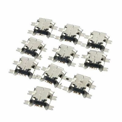 10Pcs Micro-USB Type B Female 5Pin Socket 4 Legs SMT SMD Soldering Connecto X5Y1