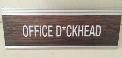Fun novelty Office Desk Signs Office D*ckhead Prank Joke secret santa gift
