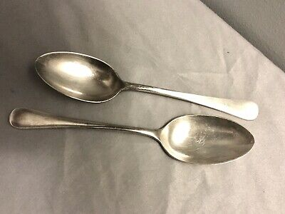 """MAPPIN & WEBB Sheffield  """"Mappin Plate""""  Silverplate Serving Spoons Set Of 2"""