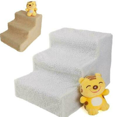 New Pet Stairs 3 Step Climb Dog Ladder w/ Cover Cat Ramp Steps Stair Beige US