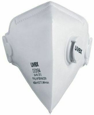 Uvex Disposable Face Mask FFP2 Valved Respirator Masks 8733.21 Box of 15 PPE UK