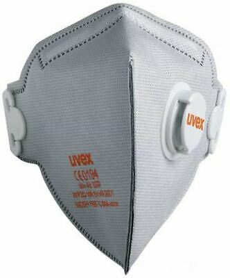 Uvex Disposable Face Mask FFP2 Valved Respirator Masks 8733.22 Box of 15 PPE UK