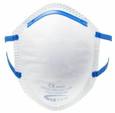 Disposable Face Mask FFP2 Cup Shaped Respirators Box of 20 PPE Safety Wear UK