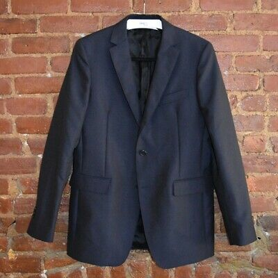 NWT Calvin Klein 205W39NYC Navy Blue Wool Mohair 2BTN Suit Jacket 38R