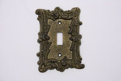 Antique Vtg Brass Edmar Single Light Switch Cover