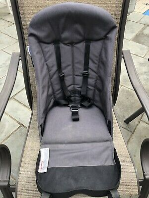 Bugaboo Cameleon Stroller Canvas Seat Fabric Base Charcoal Gray 5 point harness