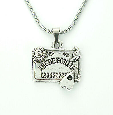Spirit Board Necklace, Ouija Style Charm Pendant Fortune Teller Psychic Gift Box