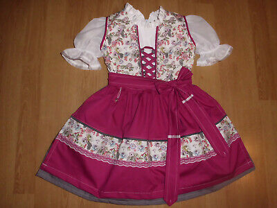"NEU  Kinder Dirndl  gr. 104    ""MADE WITH LOVE"""
