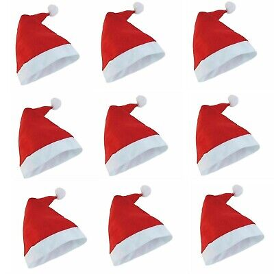 Wholesale Christmas Hat XMAS Santa Adult/Kids Size Hat Wth White Classic Unisex