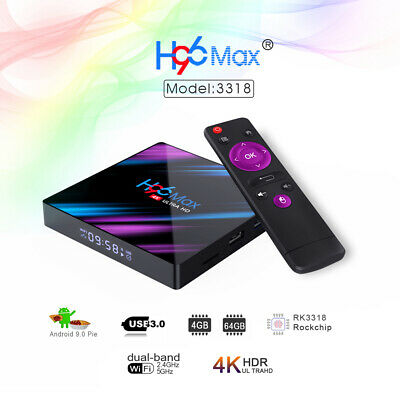 H96 MAX 4GB+64GB/32GB Android 9.0 TV Box USB3.0 Smart Media Player+Tastiera G7W9