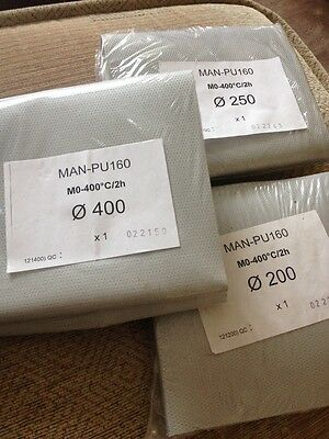 Man-Pu160 Flexi Fabric Anti Vibe Duct Connectors, Various Dia C/W Jubilee Clips